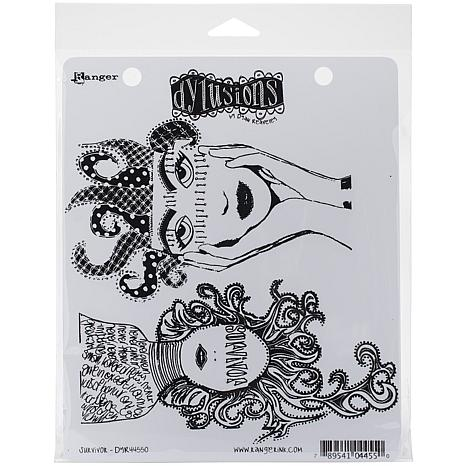 Dyan Reaveley's Dylusions Cling Stamp Collections 8.5X7 - Survivor