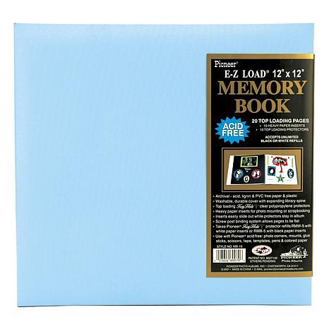 E-Z Load Postbound Album 12X12 - Baby Blue