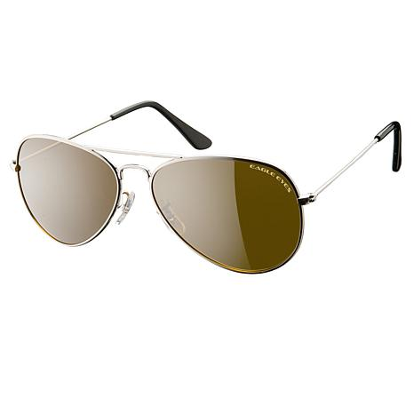 Eagle Eyes Classic Aviator Silver TriLenium Polarized Sunglasses