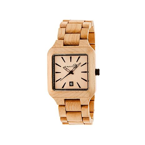 Earth Wood Arapaho Khaki Dial Wood Bracelet Watch