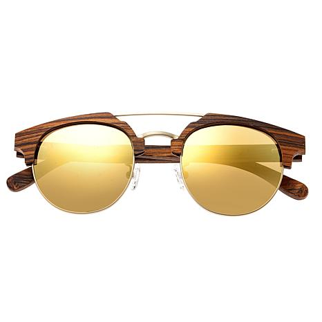 Earth Wood Kai Polarized Sunglasses with Brown Stripe Frame