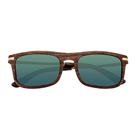 Earth Wood Queensland Polarized Sunglasses with Brown Frame
