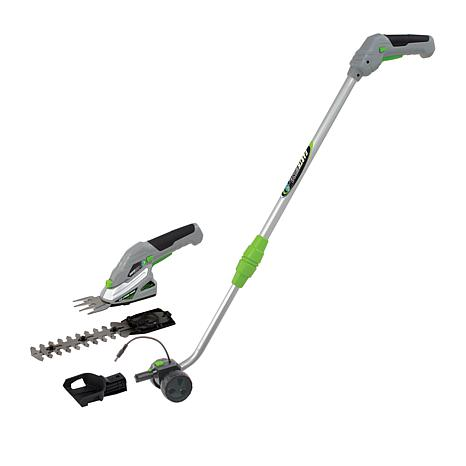 EARTHWISE Cordless Lithium 2-in-1 Garden Trimmer with Pole