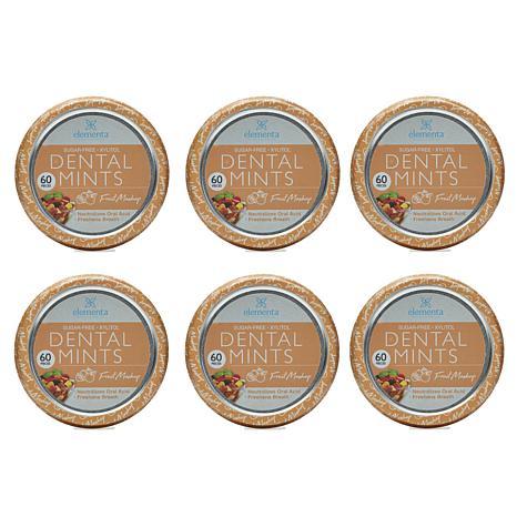 Elementa Silver Dental Mints 6-pack