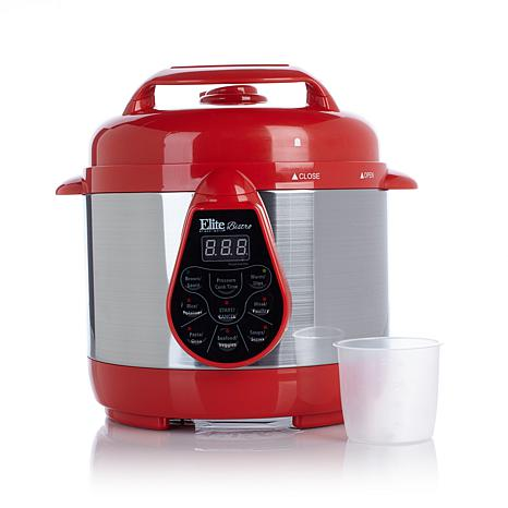 Elite Bistro 2qt Electric Pressure Cooker with Recipes