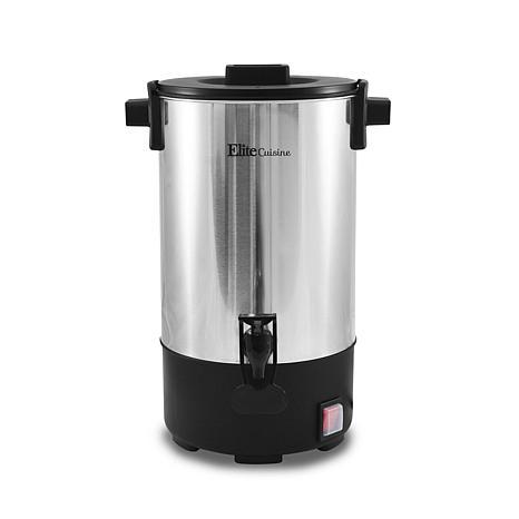 Elite Cuisine 30-Cup Stainless Steel Coffee Urn