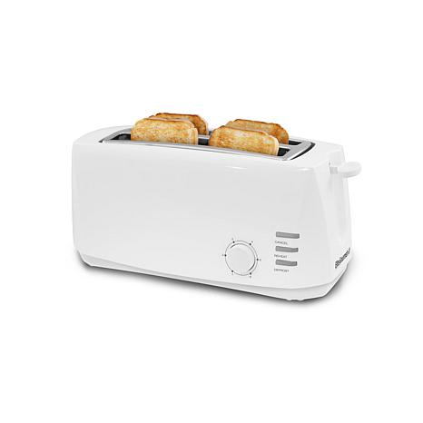 Elite Cuisine 4-Slice Long Slot Cool Touch Toaster