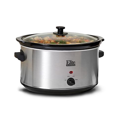 Elite Platinum 8.5qt. Stainless Steel Slow Cooker