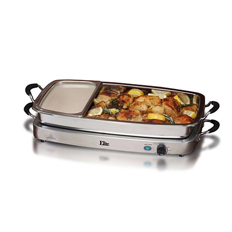 Buffet Servers ... - Elite Platinum Set Of 3 Deluxe 2.5qt. Stainless Steel Electric