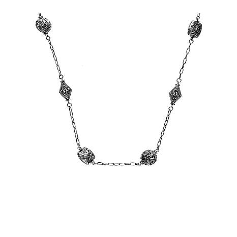 "Elyse Ryan 18"" Sterling Silver Station Necklace"