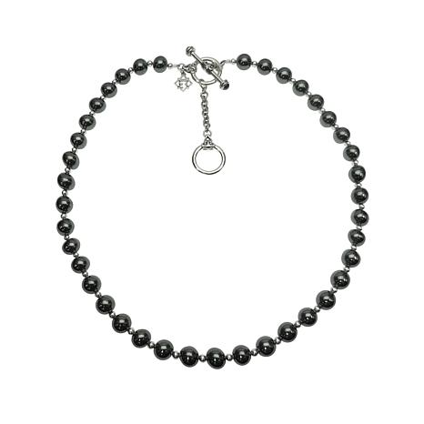 Elyse Ryan Sterling Silver Hematite Bead Necklace