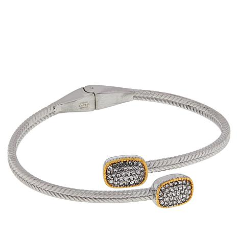 Emma Skye Crystal-Accented 2-Tone Bypass Bangle