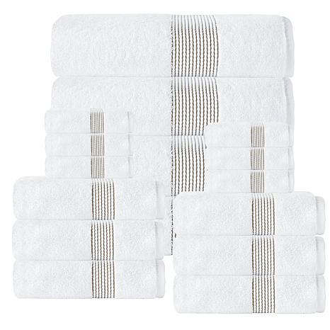 Enchante Home Elegante 100% Turkish Cotton 16-piece Towel Set