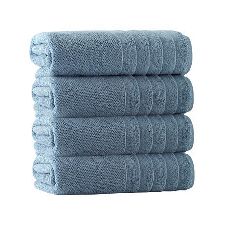 Enchante Home Veta Set of 4 Turkish Cotton Bath Towels