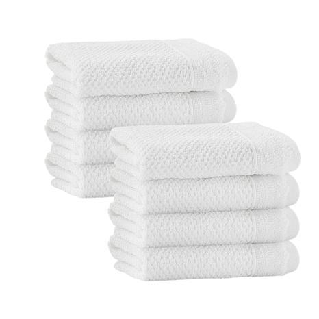Enchante Home Veta Set of 8 Turkish Cotton Wash Cloths