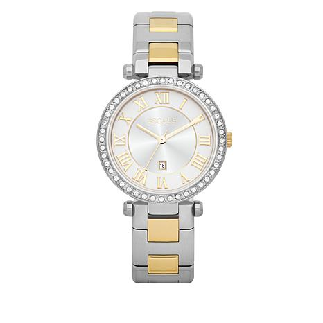 "ESCAPE Women's ""Serenity"" Goldtone/Silvertone Bracelet Watch"