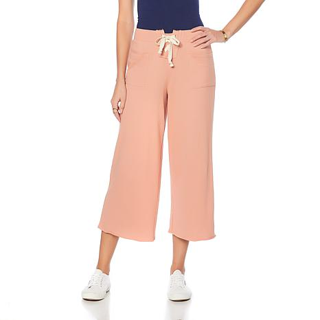 Eva Longoria Lace-Up Cropped Sweatpant