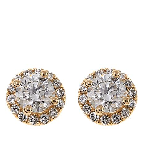 Ever Brilliant 1 52ctw Lab Grown Diamond 14k Circle Stud Earrings