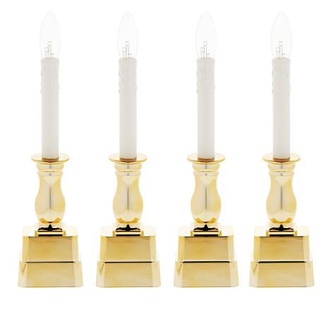 Evergreen Estates 4-pack Battery-Operated Window Candles