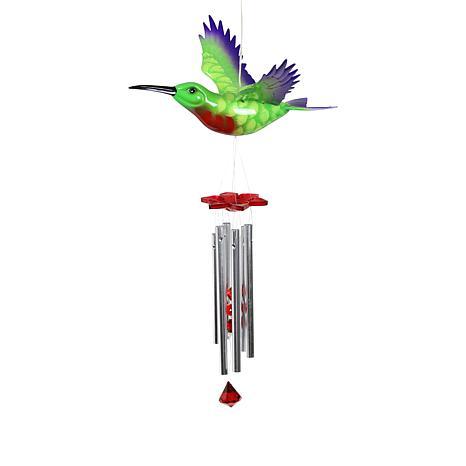 Exhart WindyWings Solar Hummingbird Wind Chime
