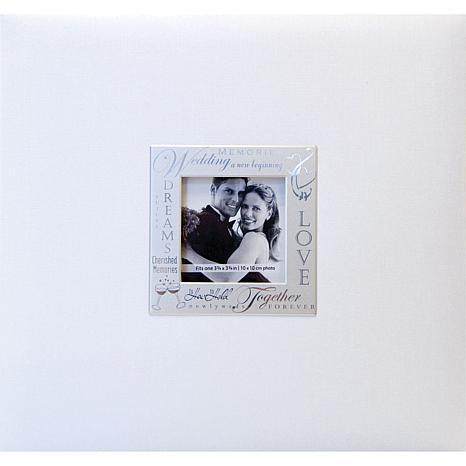 "Expressions Postbound Album 8"" x 8"" - Wedding - White"