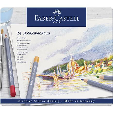 Faber-Castell Goldfaber Aqua Watercolor Pencils Tin Set - Set of 24