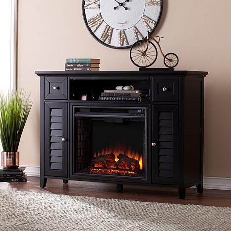 Fairbury 3 In 1 Electric Fireplace Media Console   Black