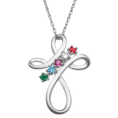 Family Cross Crystal Pendant