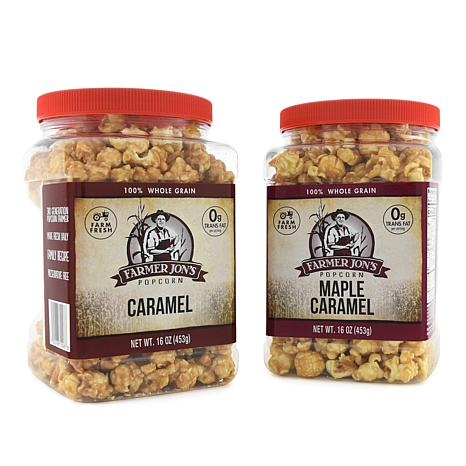 Farmer Jon's 2-pack Caramel & Maple Caramel Popped Popcorn Auto-Ship®