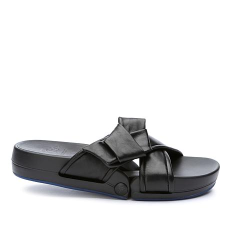 Figs by Figueroa Figomatic Bow Nappa Leather Flex Sandal