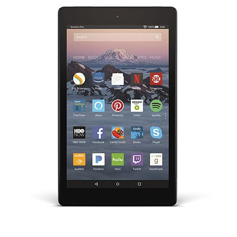 """Fire HD 8"""" IPS 16GB Alexa-Enabled Tablet with Pandora Premium Offer"""
