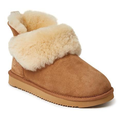 Fireside by Dearfoams Women's Perth Shearling Foldover Boot