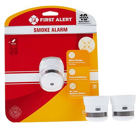 First Alert 3 Pack 10 Year Atom Micro Smoke Alarms 8753109 Hsn