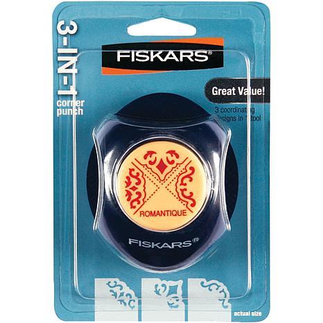 Fiskars 3-in-1 Corner Punch - Romantique