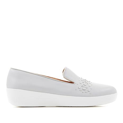 FitFlop Audrey Studded Leather Smoking Slipper