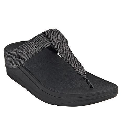 FitFlop Mina Shimmer Denim Toe Post Sandal