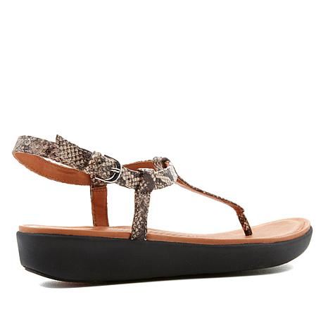 35ab6c7322f FitFlop Tia Leather Toe-Thong Sandal - Snake - 8716494