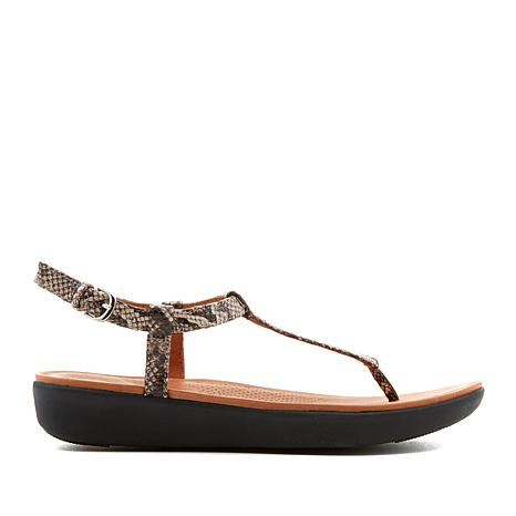 FitFlop Tia Leather Toe-Thong Sandal - Snake