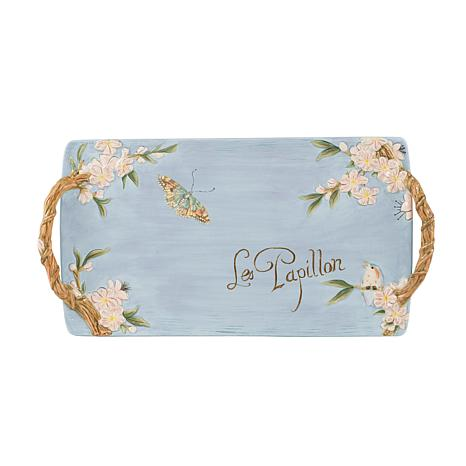 Fitz and Floyd Hand Painted Toulouse Serving Tray