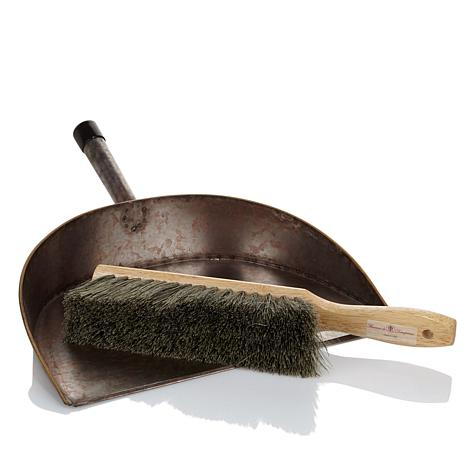 Florence Vintage Coppertone Dust Pan and Natural Broom