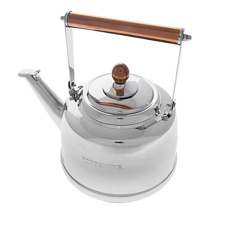 FOOD & WINE™  2.6qt. Stainless Steel Tea Kettle