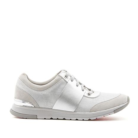 Foot Petals Blair Leather and Suede Fashion Sneaker