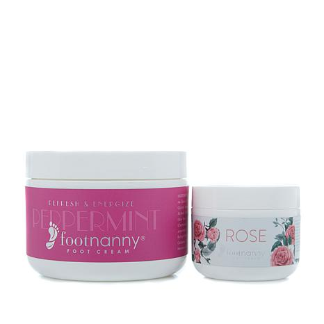 Footnanny Peppermint and Rose Foot Cream 2-piece Set