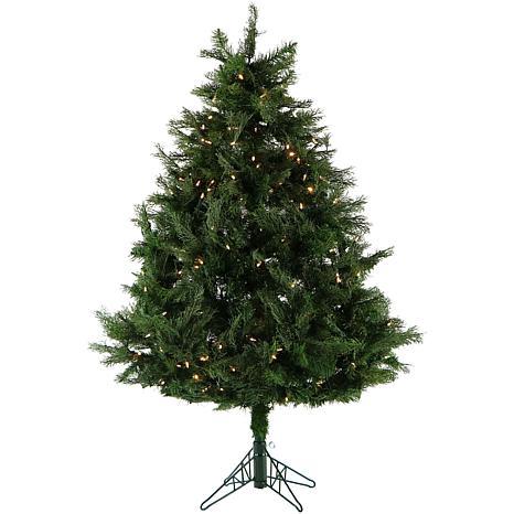 Fraser Hill Farm 5' Cedar Teardrop EZ Connect Tree w/Clear LED Lights