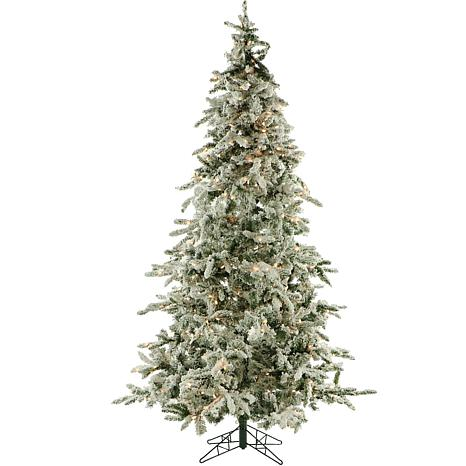 Fraser Hill Farms 9' Flocked Mountain Pine Tree - Clear