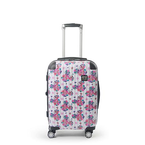 "FUL Disney Minnie Mouse  Floral 21"" Printed Hard-sided Rolling Luggage"