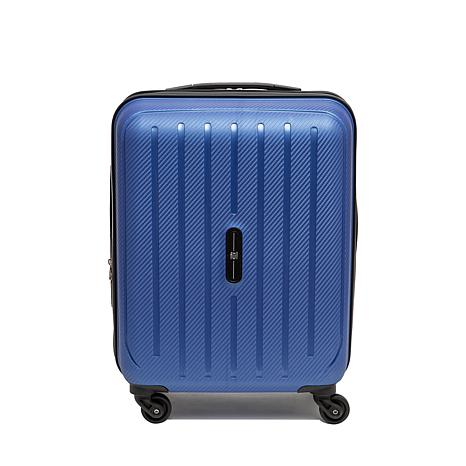 """FUL Pure 21"""" Carry-On Rolling Suitcase - Blue"""