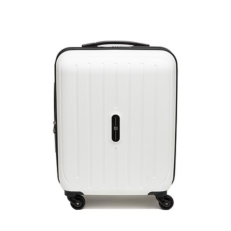 """FUL Pure 21"""" Carry-On Rolling Suitcase - White"""