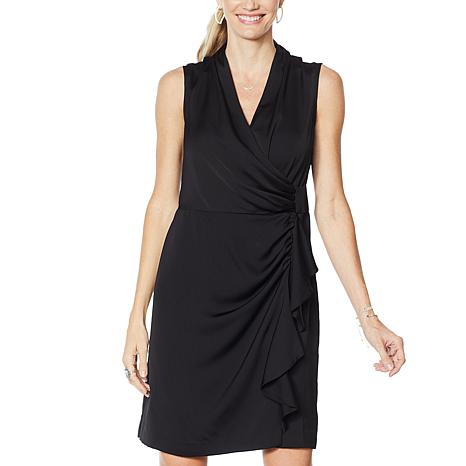 G by Giuliana Black Label Wrap Dress