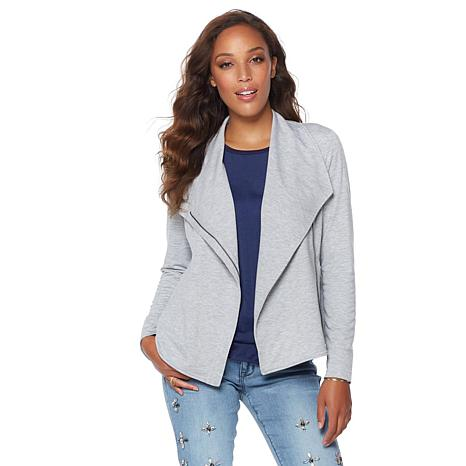 G by Giuliana French Terry Zip-Front Jacket